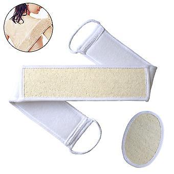 Set de 2 piezas exfoliante Loofah Back Scrubber for Shower-beige