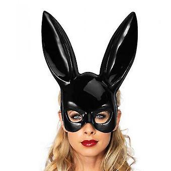 Bunny Mask Masquerade Rabbit Mask Women Sexy Black Long Ears Rabbit Bunny Party
