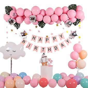 Syntymäpäiväjuhla tausta koristelu ilmapallo isn tuuli lasten syntymäpäivä ilmapiiri koristelu ilmapallo setti Kc-001(b)