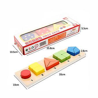 Kinderspeelgoed, Houten Speelgoed, Cognitief Educatief Matching Spel, Baby Leren Educatief Speelgoed-c