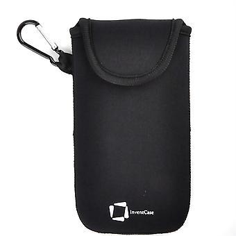 InventCase Neoprene Protective Pouch Case pour Motorola Moto M - Noir