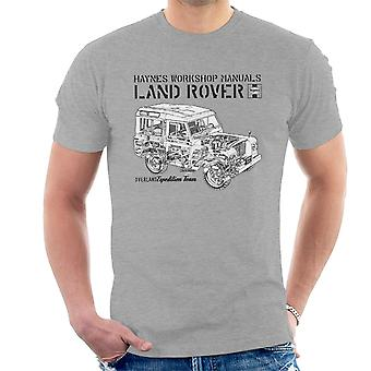 Haynes Owners Workshop Manual Land Rover Overland Black Men's T-Shirt