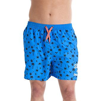 INDIAN AFFAIRS Mens Blue Surf At Own Risk Swmming Shorts