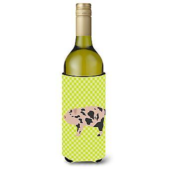 Mini miniatuur varken groene fles wijn Beverge isolator Hugger