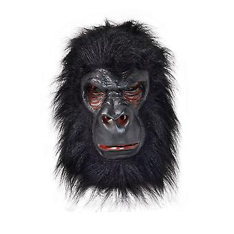 Gorilla Mask Latex med sort hår