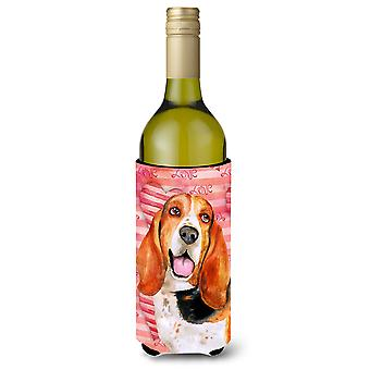 Basset Hound Love Wine Bottle Beverge Insulator Hugger