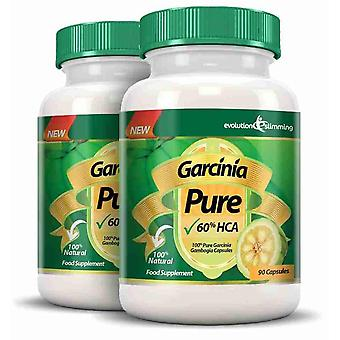 Garcinia Pure 100% Pure Garcinia Cambogia 1000mg 60% HCA - 2 Month Supply - Fat Burner and Appetite Control - Evolution Slimming