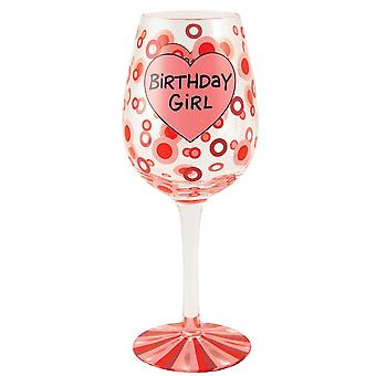 Our Name is Mud Birthday Girl Wine Glass