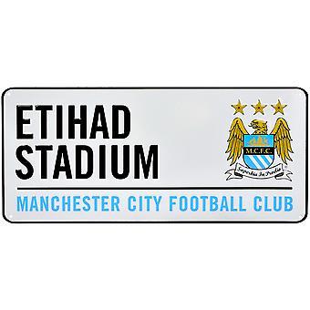 Manchester City FC offizielle Fußball Crest Straßenschild