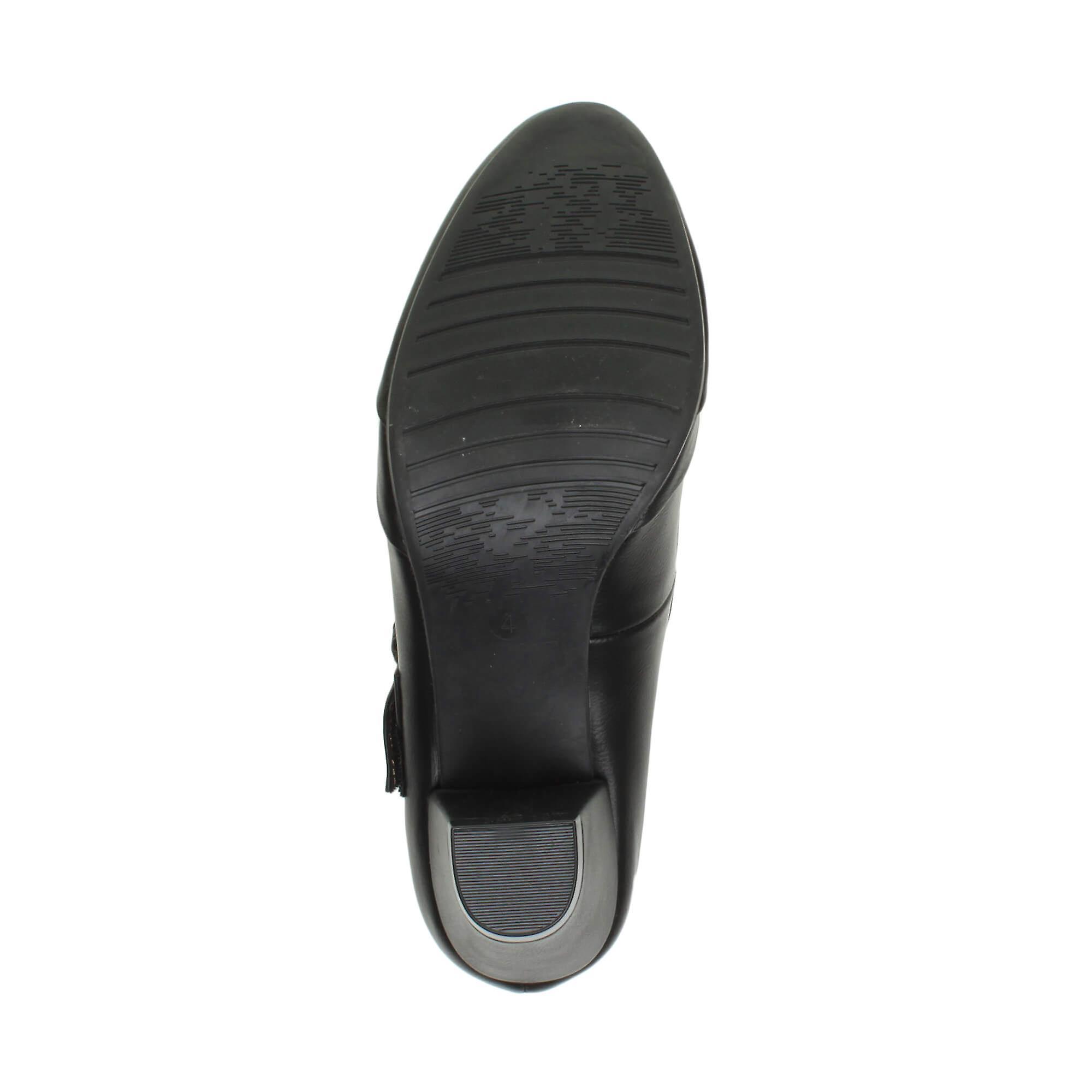 Ajvani womens mid heel mary jane strap smart work comfort court shoes