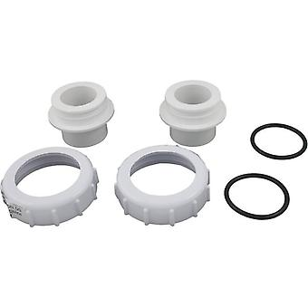 Pentair 271096 White Bulkhead Union Replacement Set Pool or Spa Filter