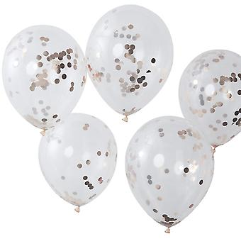 Rose Gold Konfetti LUFTBALLONS Party Luftballons Dekoration x 5