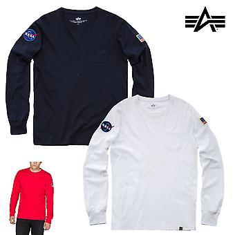 Alpha teollisuuden Miesten pitkähihainen paita NASA