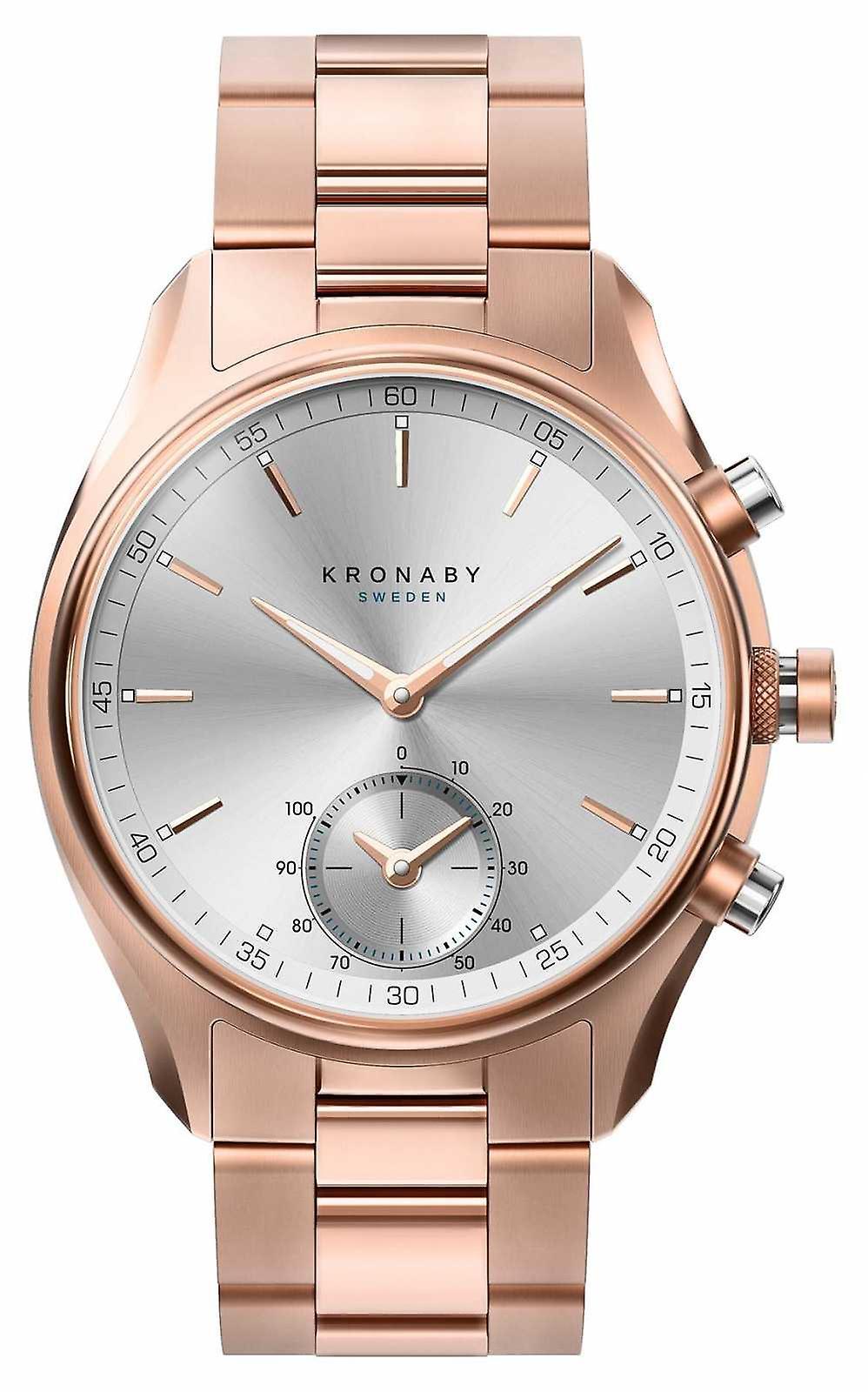 Kronaby 43mm SEKEL Bluetooth Rose Gold Metal Bracelet A1000-2745 S2745/1 Watch