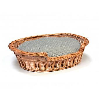 Keskipitkällä Willow koira kissa hellitellä Wicker Basket pehmeäksi