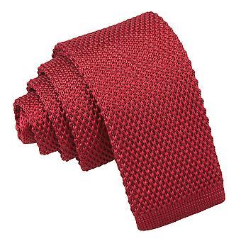 Bourgondië gebreide stropdas voor jongens