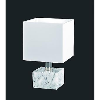 Lâmpada de mesa de mármore branco trio iluminação moderna de Daytona