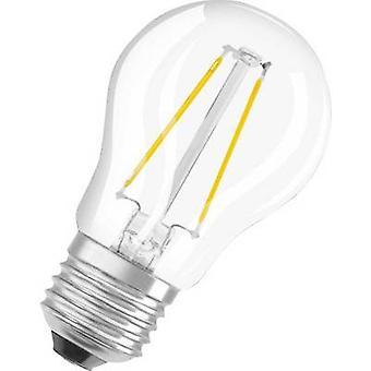 LED OSRAM (monocromático) EEC A++ (A++ - E) E27 Droplet 2.8 W = 25 W Branco quente (Ø x L) 45 mm x 77 mm Filament 1 pc(s)