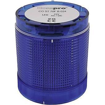 إشارة برج مكون ش الصمام كومبرو CO 70 الأزرق بدون توقف إشارة خفيفة، فلاش، الطوارئ الضوء 24 فولت تيار مستمر، 24 V AC 75 ديسيبل