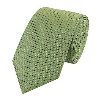 Slips slipsar binder smala 6CM pistasch grön mönstrad Fabio Farini