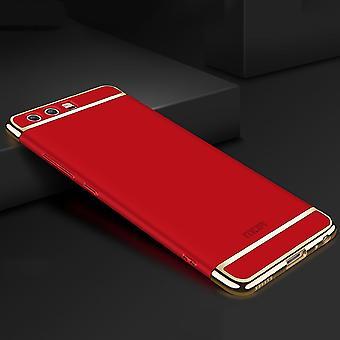 Matkapuhelin kansi tapauksessa Huawei P10 puskurin 3 in 1 kansi kromi tapauksessa kulho punainen