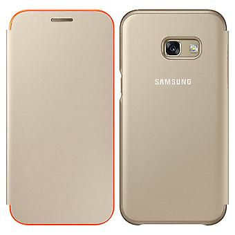 Oficial Samsung neon flip Cover pentru Samsung Galaxy A5 2017-aur
