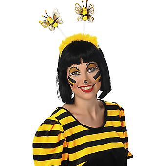 Bee hoofdband pluche accessoire carnaval Halloween insect