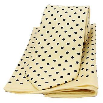 Conjunto de bolinhas de David Van Hagen, combinando a gravata e lenço de bolso - amarelo/preto
