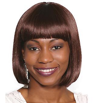 Mote kvinner kort rett mini parykk svart