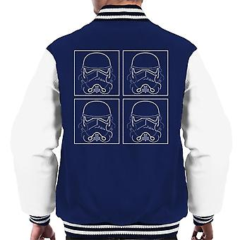 Original Stormtrooper Line Art Four Men's Varsity Jacket