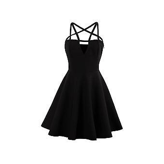 Houding kleding gotische Pentagram Mini jurk