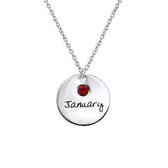 January Birthstone - 925 Sterling Silver Jewelled Necklaces - W30214x