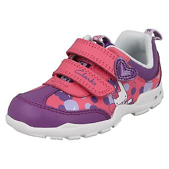 Girls Clarks First Trainers Brite Bea