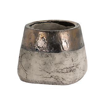 Hill Interiors Metallic Dipped Large Planter