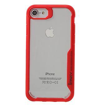 IPAKY iPhone 7 TPU Hybrid Shell-Red
