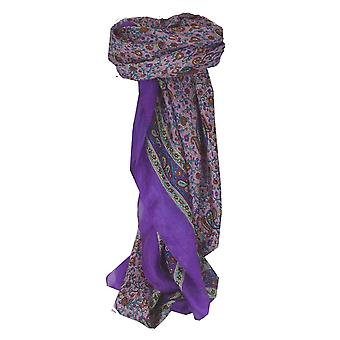 Mulberry Silk Traditional Square Scarf Abbe Violet by Pashmina & Silk