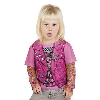 T-skjorte biker barn drakt girl kostyme rocker bruden kostyme barn tatovering