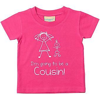 Ich werde ein Cousin rosa Tshirt