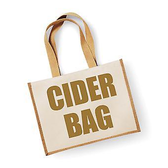 Nagy természetes arany juta Bag almabor Bag