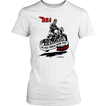 BSA - mest populära motorcykel i världen - klassisk cykel damer T Shirt