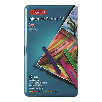 Derwent Inktense Blocks 12 Tin