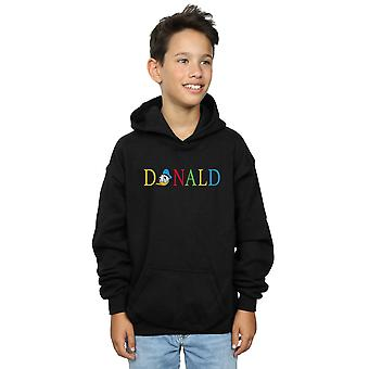 Disney jungen Donald Duck Briefe Hoodie