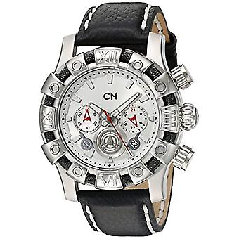 Carlo Monti CM122-112-men's wristwatch, leather, color: black