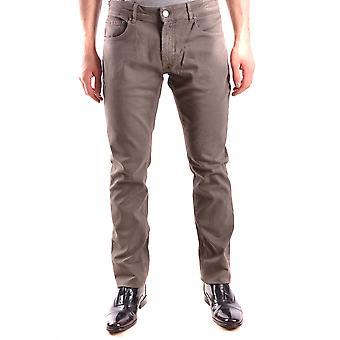 Pt05 Ezbc084038 Men's Beige Cotton Jeans