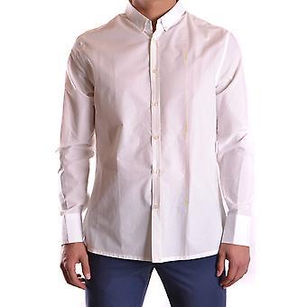 Bikkembergs Ezbc101018 Men's White Cotton Shirt