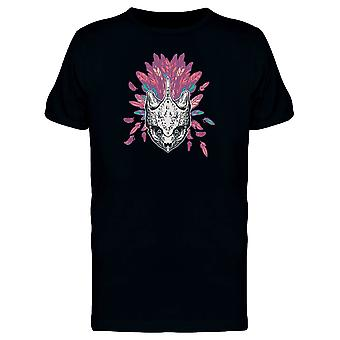 Schildkröte Totenkopf auf rosa Gefieder T-Shirt Herren-Bild von Shutterstock