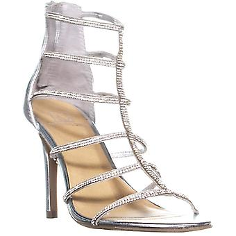 Material Girl Womens Raissa Leather Open Toe Formal Strappy Sandals
