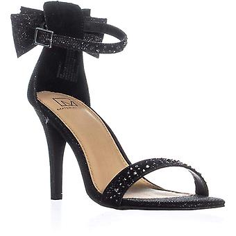 Material Girl Womens Beverly Fabric Open Toe Special Occasion Ankle Strap Sandals