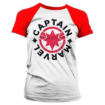 Marvel Girlie T-Shirt Captain Marvel Round Shield