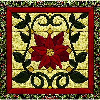 Quilt-Magic No Sew Wall Hanging Kit-Christmas Poinsettia
